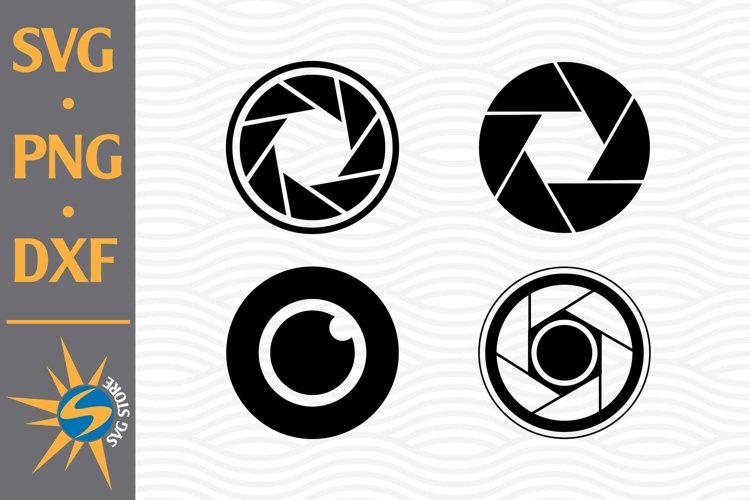Camera Lens SVG, PNG, DXF Digital Files Include example image 1