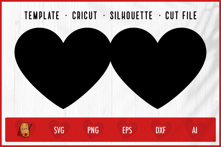 Download Valentine Heart Greeting Card Template Cut File Svg 1133480 Cut Files Design Bundles