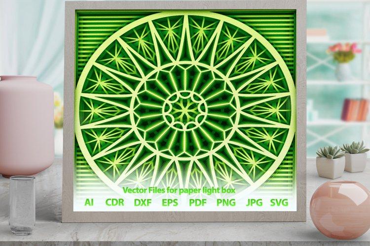 3D Mandala rose Shadowbox svg template PNG DXF CDR -M14s