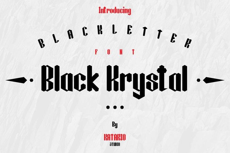 Black Krystal Font example image 1