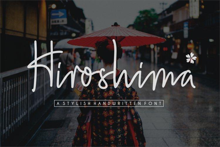 Hiroshima -  a  stylish  handwritten font example image 1