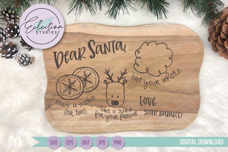 Christmas Dear Santa, Doodle Cookies for Santa Tray SVG example image 1
