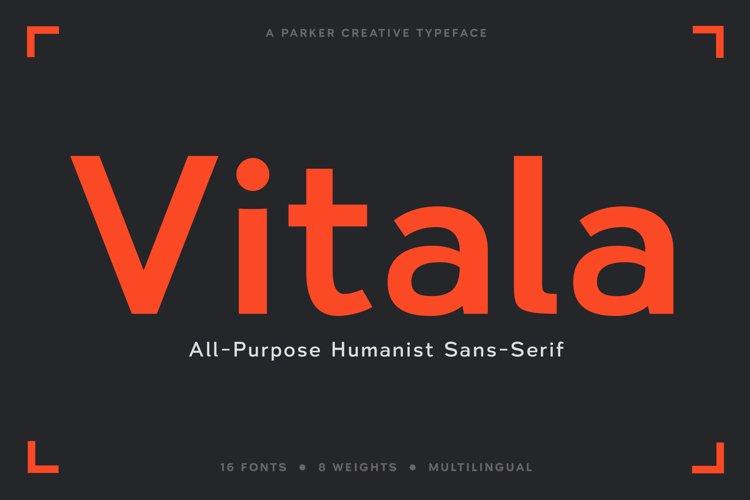 Vitala - A Workhorse Sans-Serif Webfont example image 1