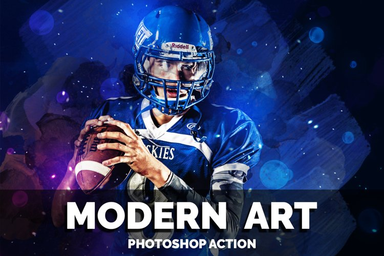 Modern Art Photoshop Action example image 1