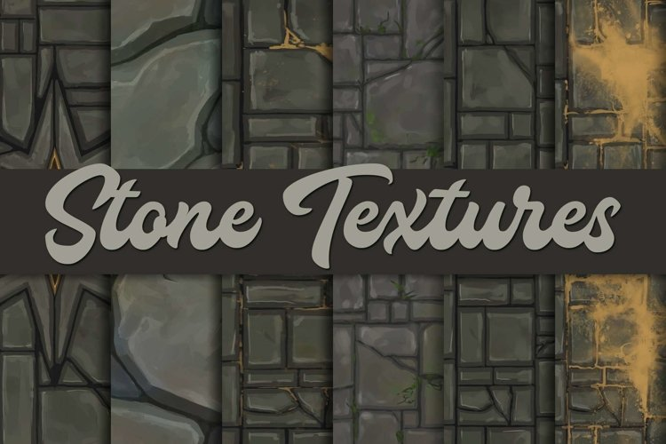 Hand-painted stone textures |Tileable example image 1