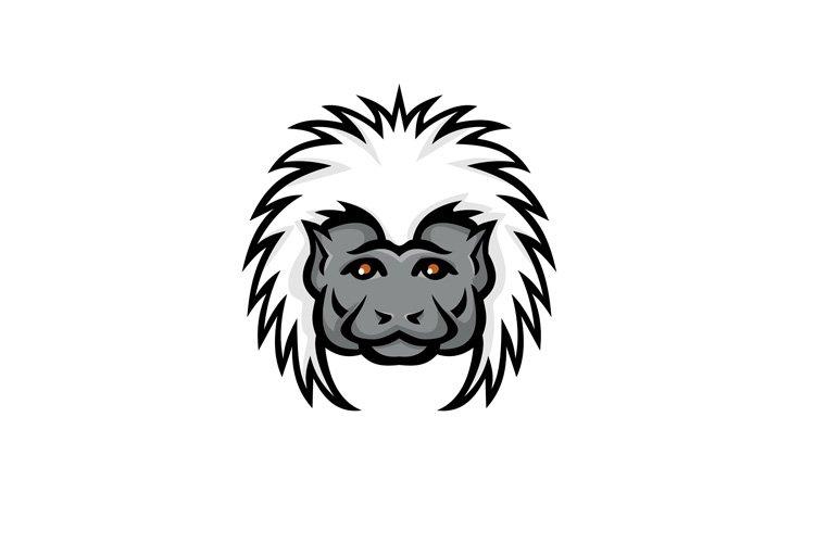Cotton Top Tamarin Monkey Head Mascot Color example image 1