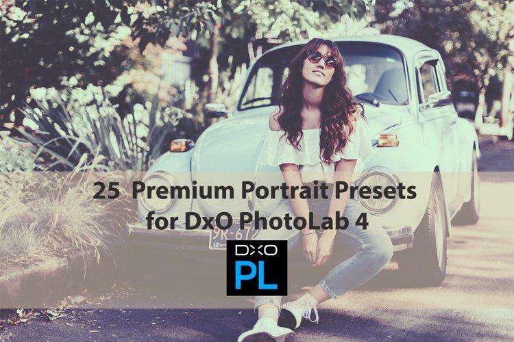 25 Premium Portrait Presets for DxO PhotoLab 4