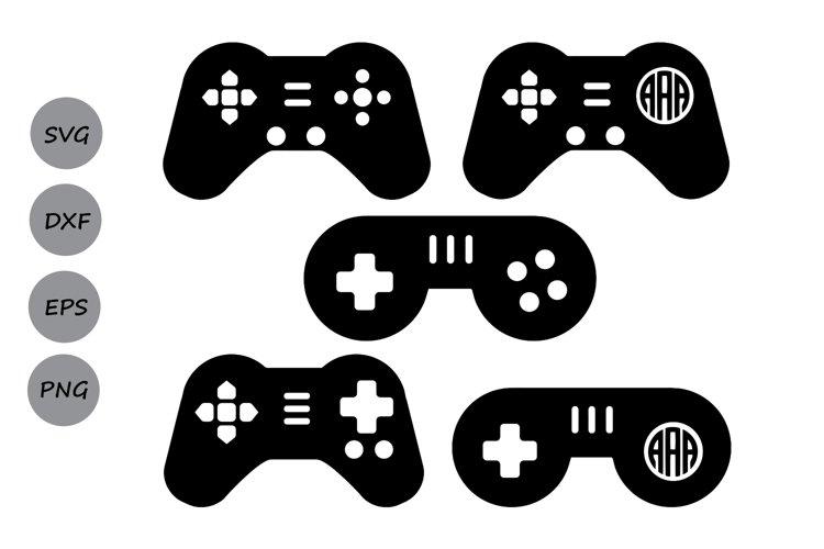 Game Controller SVG, Game Controller Monogram SVG, Game SVG.