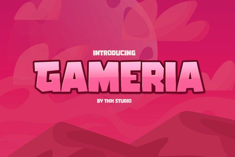 GAMERIA - Blocky Gaming Font example image 1