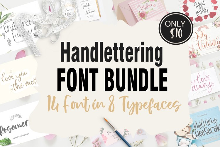 Work From Home Handlettering Bundle example image 1