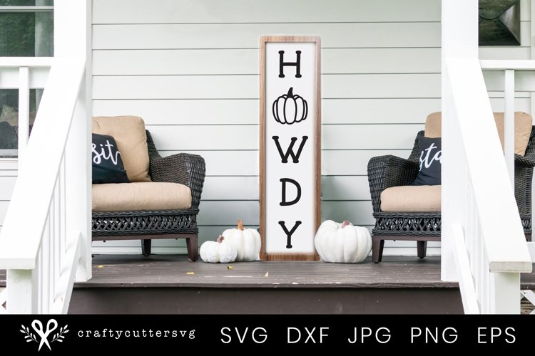 Autumn Svg Cut File |Howdy Fall Quote Porch Sign example image 1