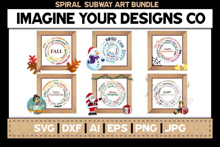 Spiral Subway Art Bundle, SVG Cut File, Sublimation