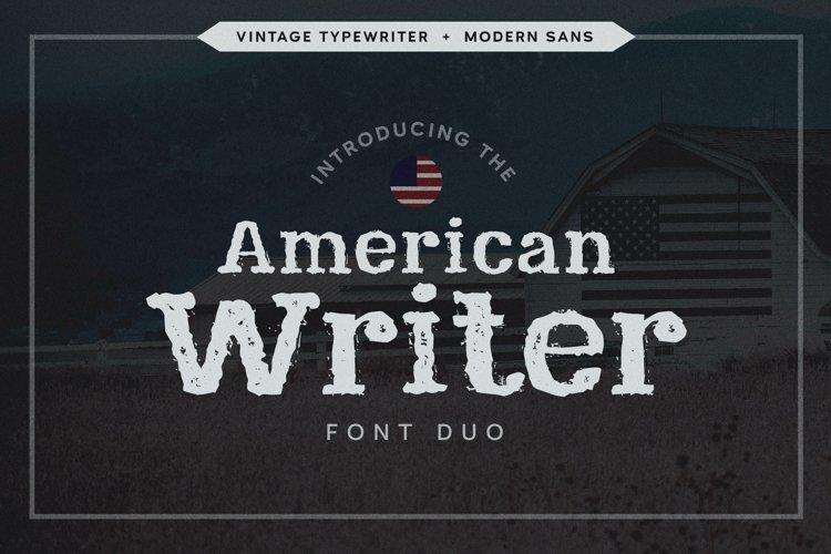 Typewriter Font | Vintage Font Duo | American Fonts