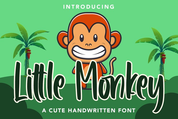 Little Monkey - Cute Font example image 1