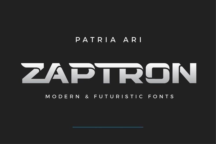 Zaptron Modern Font example image 1