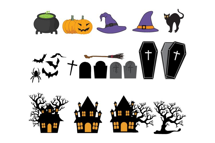 Collection of various Halloween ornaments example image 1