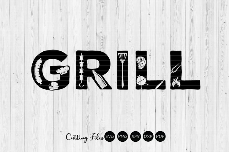 GRILL | DAD | summer | SVG Cut File example image 1
