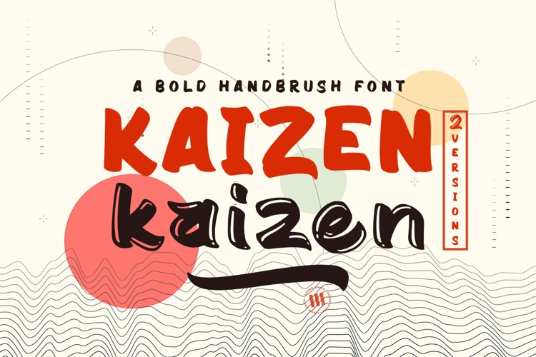 Kaizen - A Bold Font in 2 Versions