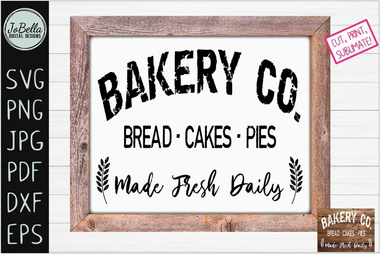 Farmhouse Bakery SVG, Printable and Sublimation PNG