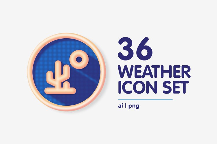 Colourful Weather Forecast Icon Set
