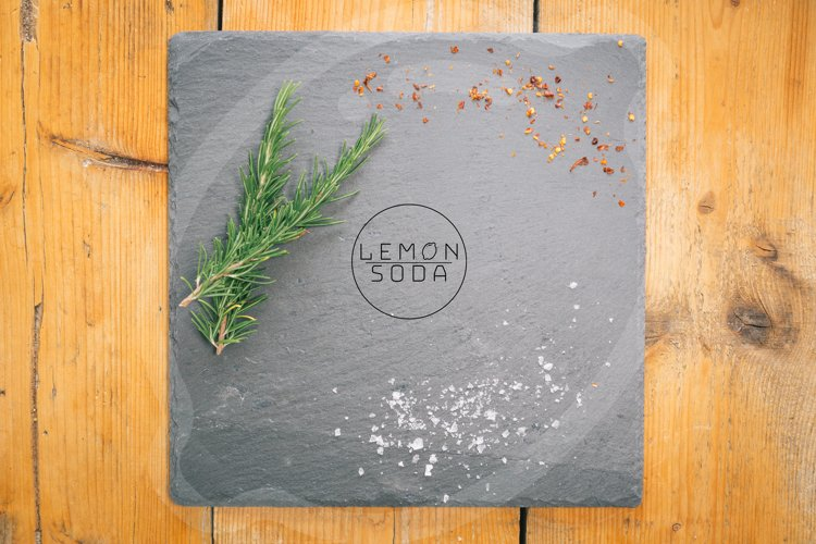 Mockup | cutting board on wooden table | cheese board example image 1