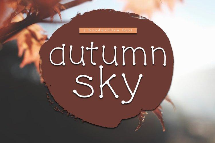 Autumn Sky - A Handwritten Font example image 1
