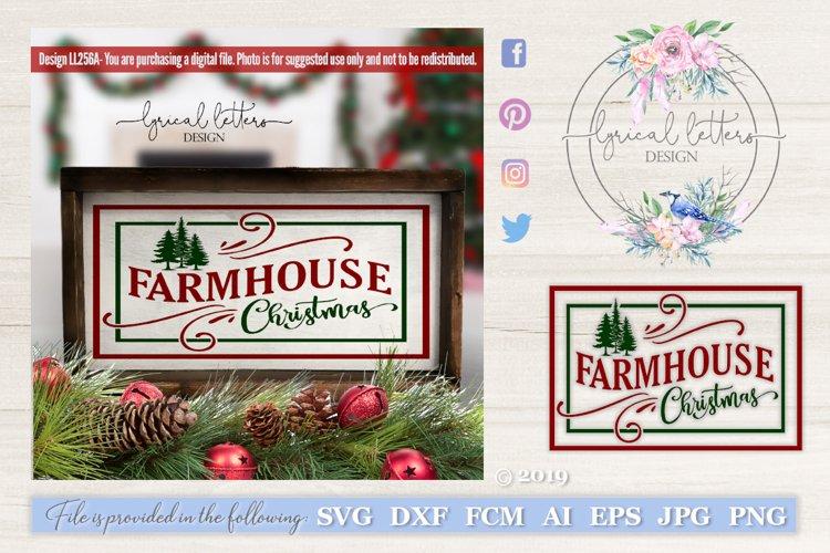 Farmhouse Christmas Svg Dxf Ll256a 135472 Cut Files Design Bundles