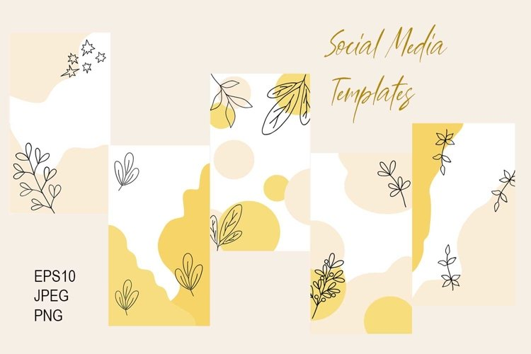 Social Media Templates, vector EPS10