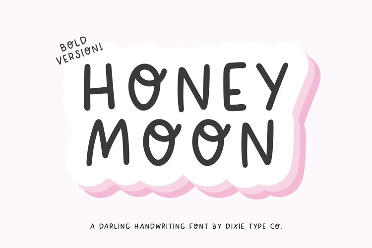 HONEYMOON BOLD Cute Handwriting Font example image 1