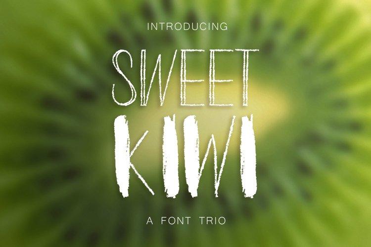 Sweet Kiwy: font trio example image 1