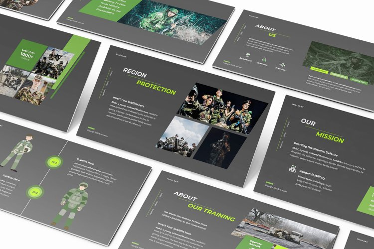 Dean Jaka Military Powerpoint Template example image 1