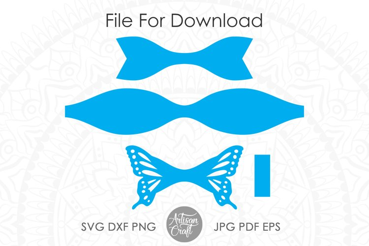 Butterfly bow template, SVG cut files example 4