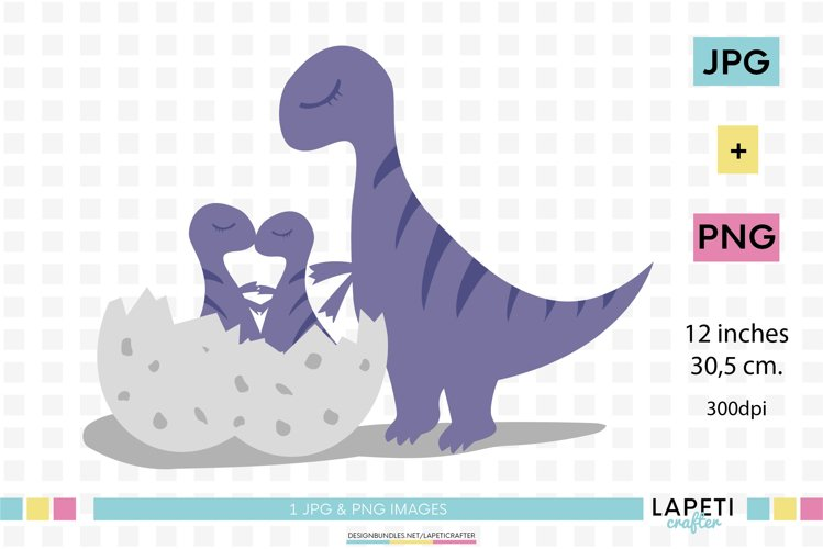 Dinosaur clipart, baby dinosaur png, dinosaur egg clip art example image 1