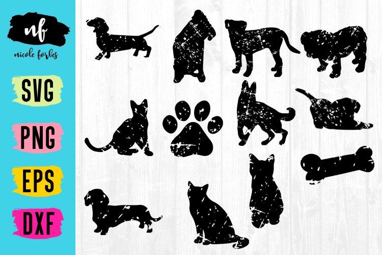 Distressed Pet SVG Bundle example image 1