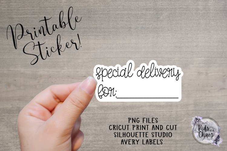 Speical Delivery For Printable Sticker