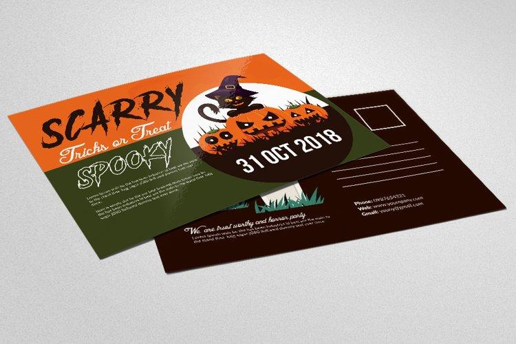 Halloween Trick or Treat Postcard example image 1