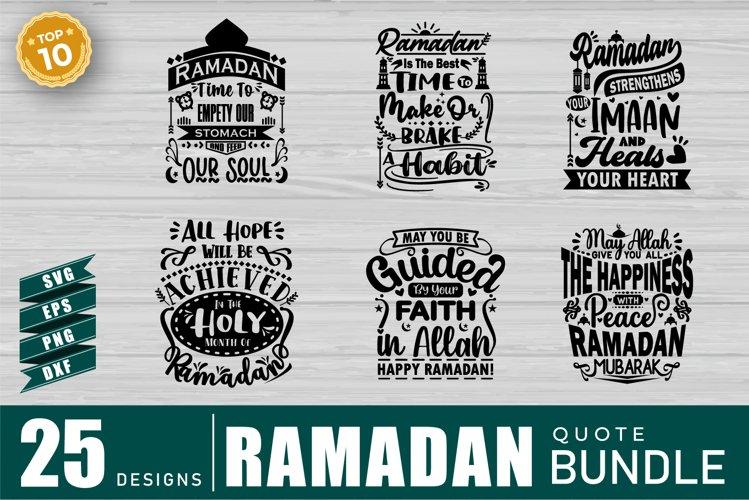Ramadan Quotes SVG Bundle, Craft Designs Collection Cut File