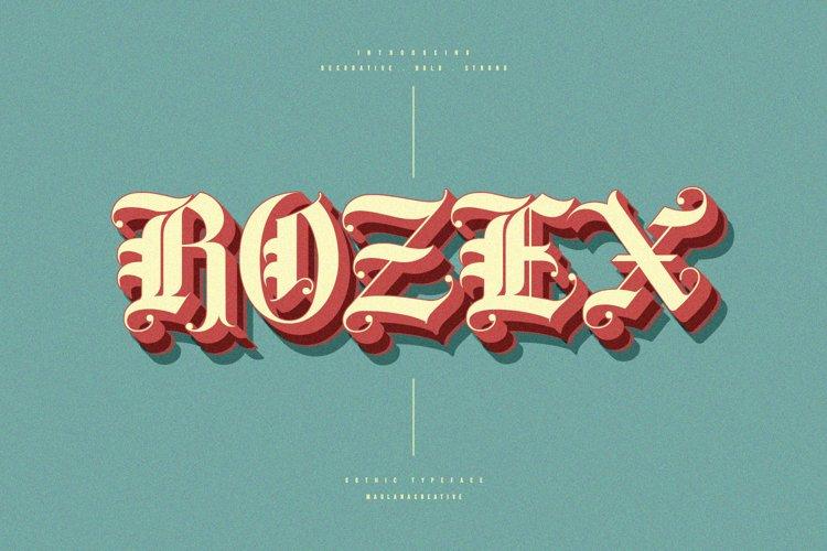 Rozex - Bold Decorative Gothic Font example image 1