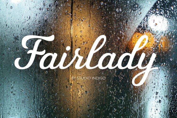Fairlady a Chunky Script Font