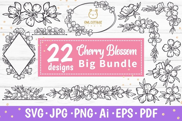 Cherry Blossom Big BUNDLE SVG, Spring FloralSVG Collection