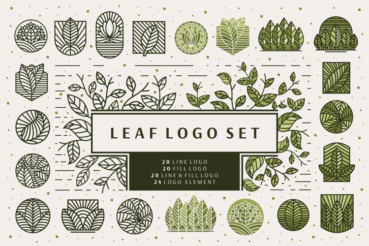 Line Leaf Logo Design / Leaf Svg / Plant Svg example image 1