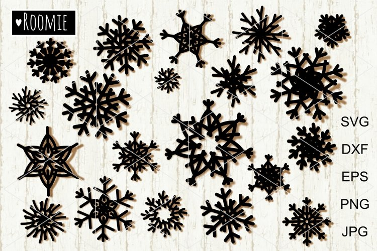 Snowflake bundle SVG Files, Christmas svg Winter svg Cutfile