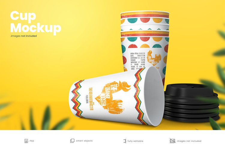 Paper Coffee Cup Mockup 4