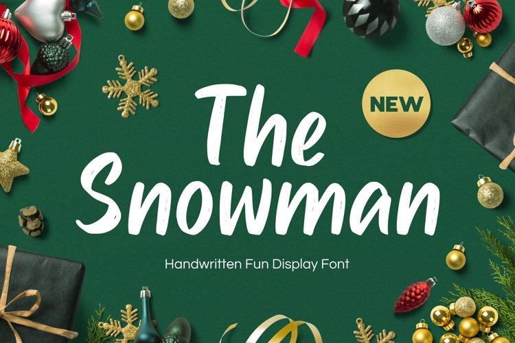 Snowman - Handwritten Fun Font example image 1