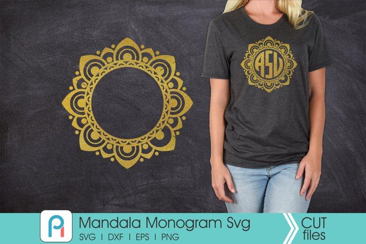 Mandala Svg, Mandala Monogram Svg, Mandala Frame Svg example image 1