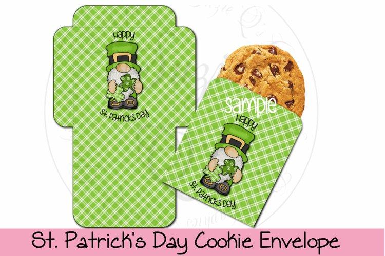 St. Patricks Day Cookie Envelope