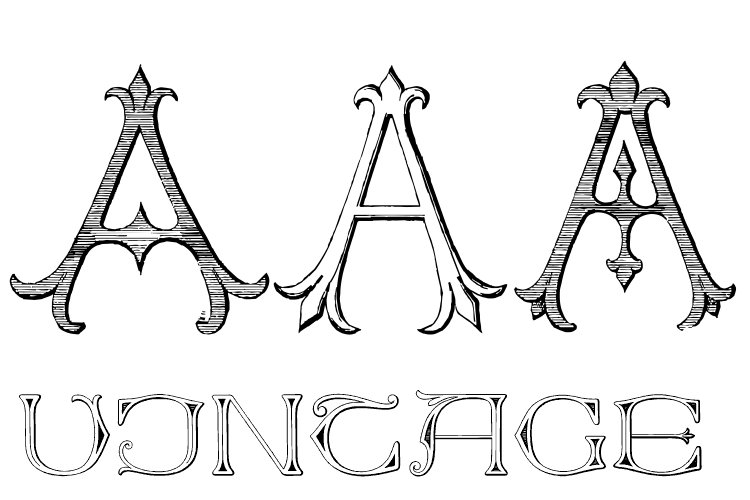 Victorian Alphabets Pack 3A example image 1