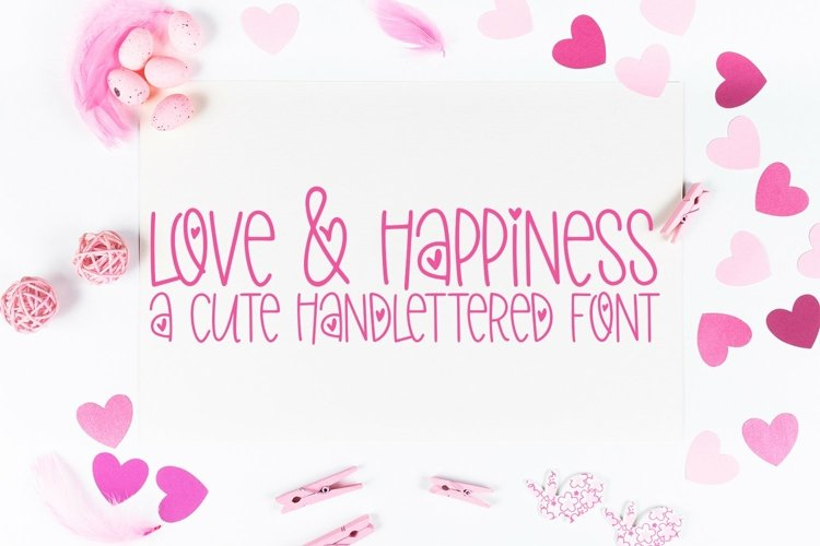 Web Font Love & Happiness - A Valentine's Day Hand-Lettered example image 1