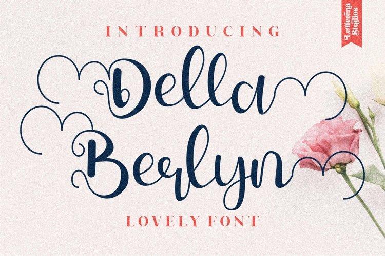 Della Berlyn - Beautiful Script Font example image 1