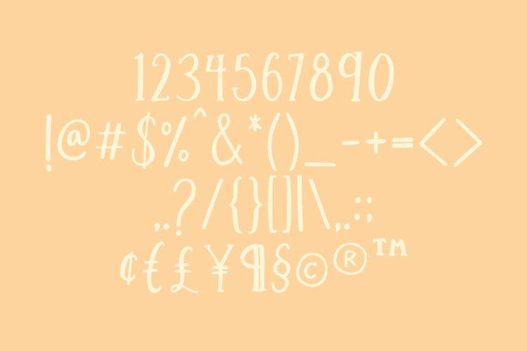 Streusel Kuchen Handwritten Serif Font example 8